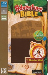 NIV Adventure Bible, Italian Duo-Tone, Chocolate/Toffee - Imperfectly Imprinted Bibles
