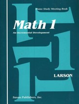 Saxon Math 1, Meeting Book