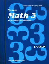 Saxon Math 3, Meeting Book