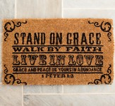 Stand on Grace--Doormat