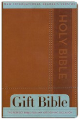 NIrV Gift Bible, Italian Duo-Tone, Brown - Slightly Imperfect