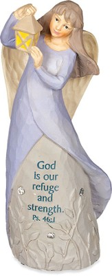 Angel Figurine, God is Our Refuge and Strength