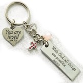 With God All This Are Possible Keyring with Charms