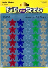 Stickers: Assorted Foil Stars