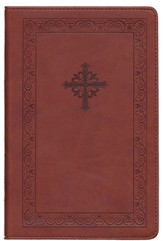 NIV Teen Study Bible, Compact, Italian Duo-Tone, Sienna Circles - Imperfectly Imprinted Bibles
