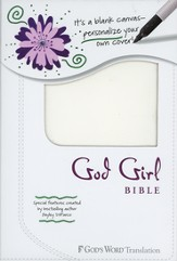 God's Word God Girl Bible, Duravella, blank white canvas design