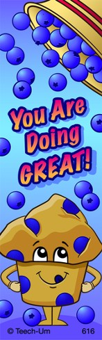 You Are Doing GREAT! Scratch N' Sniff Bookmarks, (Blueberry)
