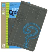 NIV Youth Quest Study Bible: The Question and Answer Bible, Italian Duo-Tone, Graphite/Blue - Imperfectly Imprinted Bibles