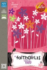 NIV Faithgirlz! Bible, Revised Edition, Italian Duo-Tone, Hot Pink / Petal Purple - Slightly Imperfect