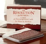 Courageous Resolution Encouragement Daily Cards for Women, Box of 40