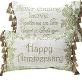 Happy Anniversary, Never Ending Love Pillow