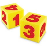 Giant Soft Numeral Cubes, Ages 3-7