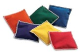 Rainbow bean bags, Set of 6