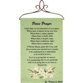 Peace Prayer Wallhanging