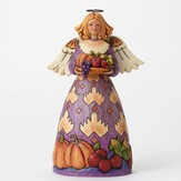 Jim Shore, Harvest Angel Figurine, Purple