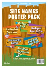 Under the Sun/Under the Stars VBS: Site Names Poster Pack - Slightly Imperfect