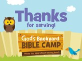 Under the Sun/Under the Stars VBS: Staff Appreciation Cards