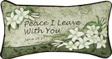 Peace I Leave With You Pillow