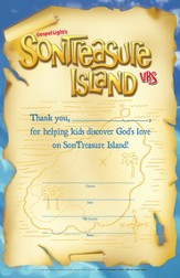 VBS 2014 SonTreasure Island- Volunteer Certificate: 10 Pack