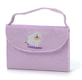 NIrV My Little Purse Bible, Furry/Purple Lamb