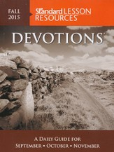 Standard Lesson Quarterly: Devotions Pocket Edition,  Fall 2015