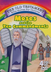 Moses and the Ten Commandments 4 DVD Set