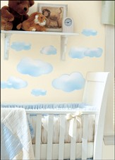 Clouds Vinyl Wall Stickers, Blue