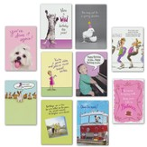 Humor Birthday Cards, Pack of 20