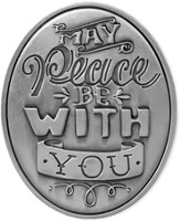 May Peace Be With You Visor Clip