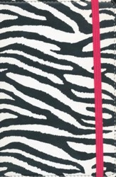 NIV Animal-Print Collection Bible, Italian Duo-Tone, Elastic Closure, Zebra/Pink - Slightly Imperfect