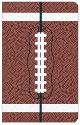 NIV Sports Collection Bible--soft leather-look, brown with football design - Slightly Imperfect