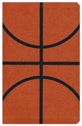 NIV Sports Collection Bible--soft leather-look, orange with basketball design - Imperfectly Imprinted Bibles