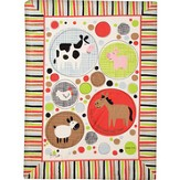 A Little Child Sall Lead Them Fleece Throw, Red