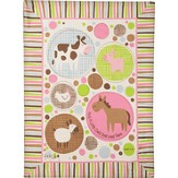 A Little Child Sall Lead Them Fleece Throw, Pink