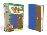 NirV Adventure Bible for Early Readers, Italian Duo-Tone, Elastic Closure, Blue/Tan