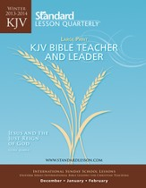 Standard Lesson Quarterly KJV Bible Teacher & Leader Large Print, Winter 2013