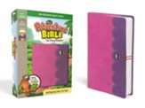NirV Adventure Bible for Early Readers, Italian Duo-Tone, Elastic Closure, Amethyst/Pink