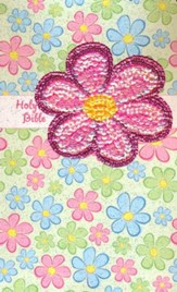 NIrV Sequin Bible, Flex-Cover Flower
