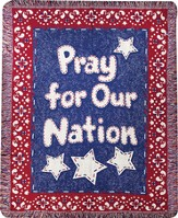 Pray For Our Nation, Woven Throw