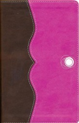 NIV Teen Study Bible Compact, Italian Duo-Tone, Chocolate/Raspberry - Slightly Imperfect