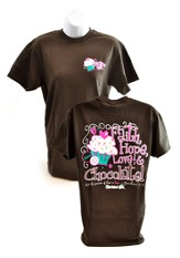 Faith, Hope, Love, Cherished Girl Style Shirt, Brown, Extra Large