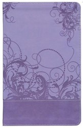 NIV Teen Study Bible, Leather Bound, Spring Violet  - Imperfectly Imprinted Bibles