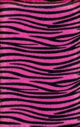NIV Plush Bible, Thinline, Pink Zebra