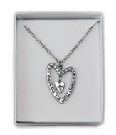 You Make the World a Better Place, Heart Pendant, Silver