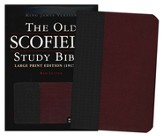 KJV Old Scofield, Large Print, Basketweave Black/Burgundy