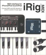 iRig Midi-iOS Midi Interface to Connect Midi Keyboard or Any Other Device to Your iPone/iPad Touch/iPad