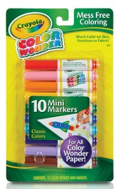 Color Wonder Mini Markers, Classic Colors, Set of 10