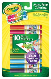Color Wonder Mini Markers, Bright Colors, Set of 10