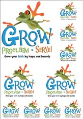 Grow, Proclaim, Serve! Sunday School Iron-On (One Sheet)