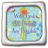 With God All Things Are Possible, Square Magnet